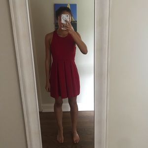 Lulu's Fit and Flare Cutout Back Mini Dress